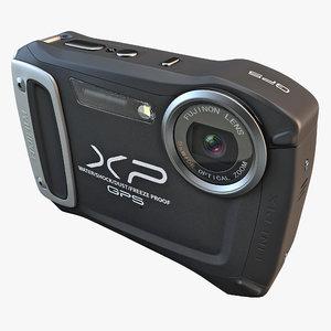 fujifilm xp170 compact digital camera 3d model