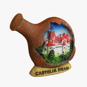 3d model bran castle magnet souvenir