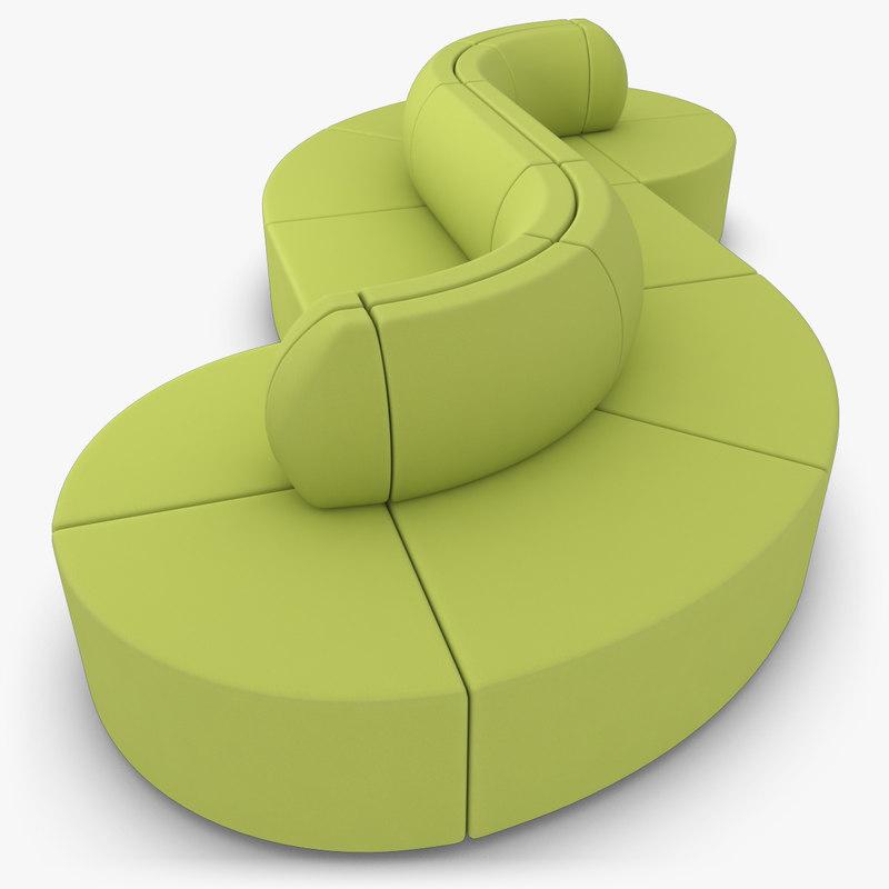 realistic fabric sofa max