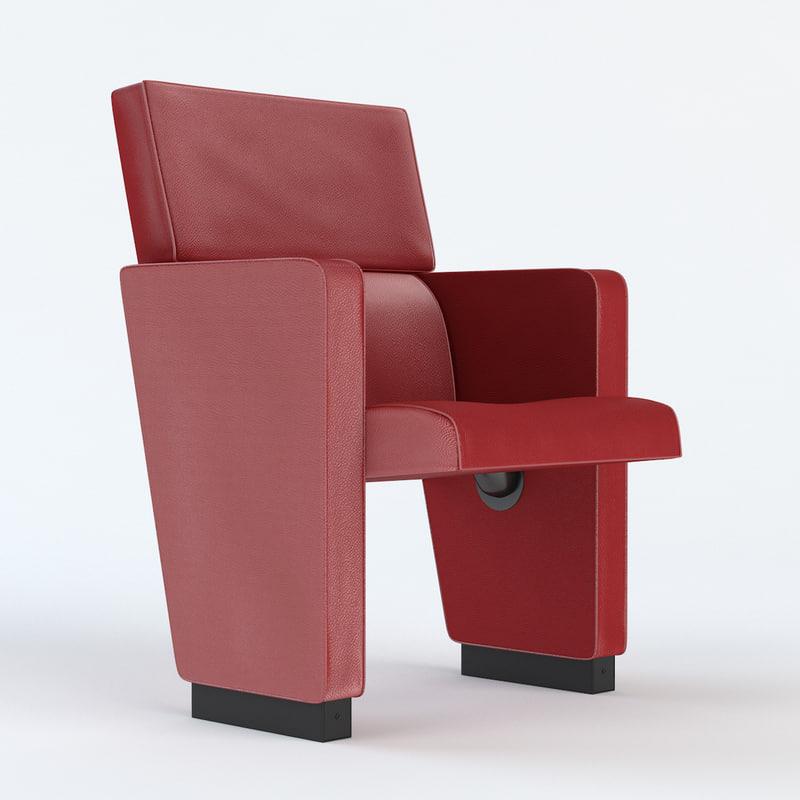 3d model poltrona frau pitagora armchair for Poltrona 3d