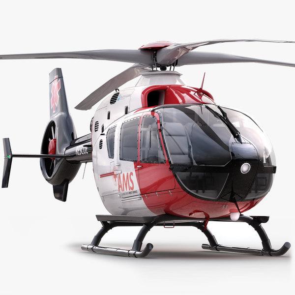 eurocopter ec 135 medical 3d model