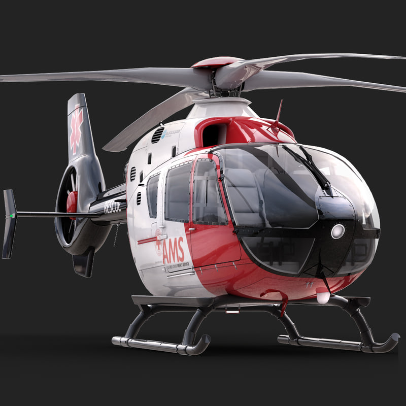 eurocopter ec 135 medical 3d model