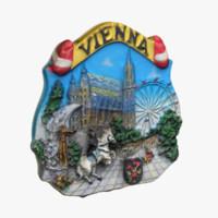 vienna austria magnet souvenir 3d 3ds