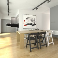 kitchen dining room 3d max