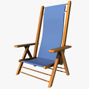 3d model summer chair