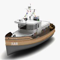 3ds tug boat