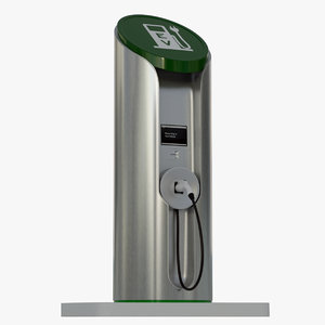 electric vehicle charging station 3d max