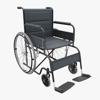 medical wheelchair 3d 3ds