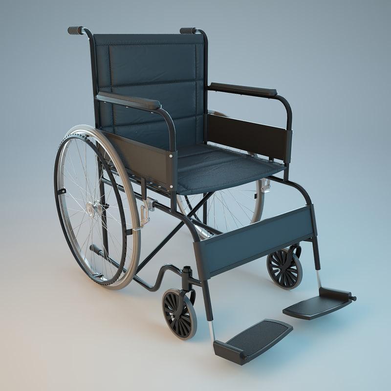 medical wheelchair 3d 3ds