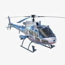 Eurocopter AS350 3D models