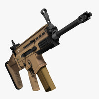 Rifle FN SCAR-H -Long Low Poly