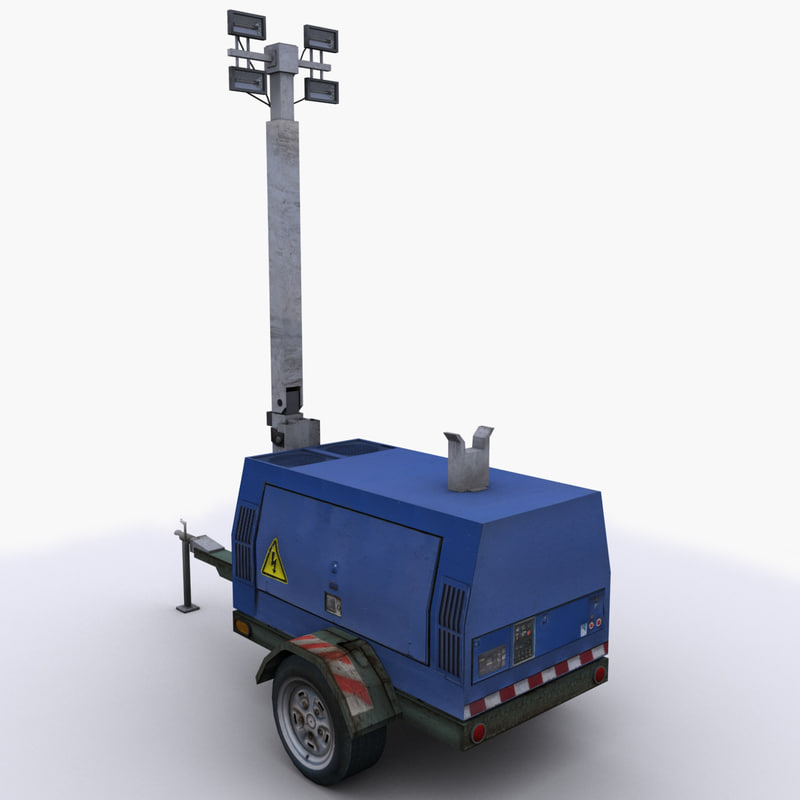 ready mobile generator light rig 3d model