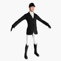 3d model horse rider