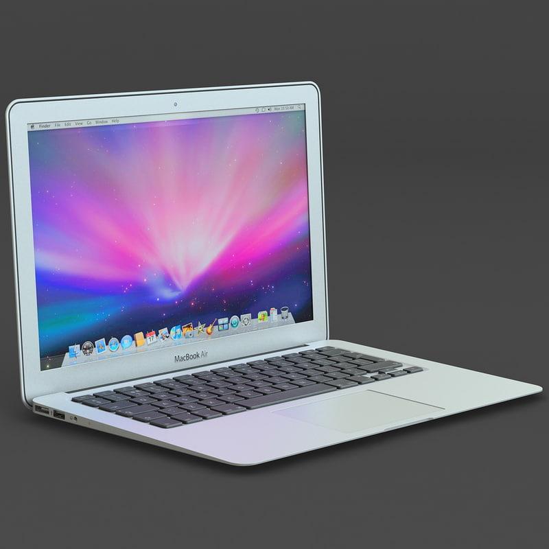 3d macbook air apple laptop