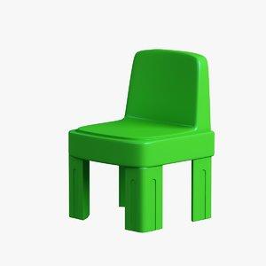 children chair plastic model
