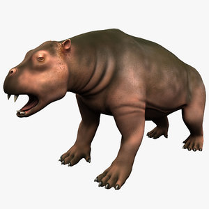3d desmostylia mammal