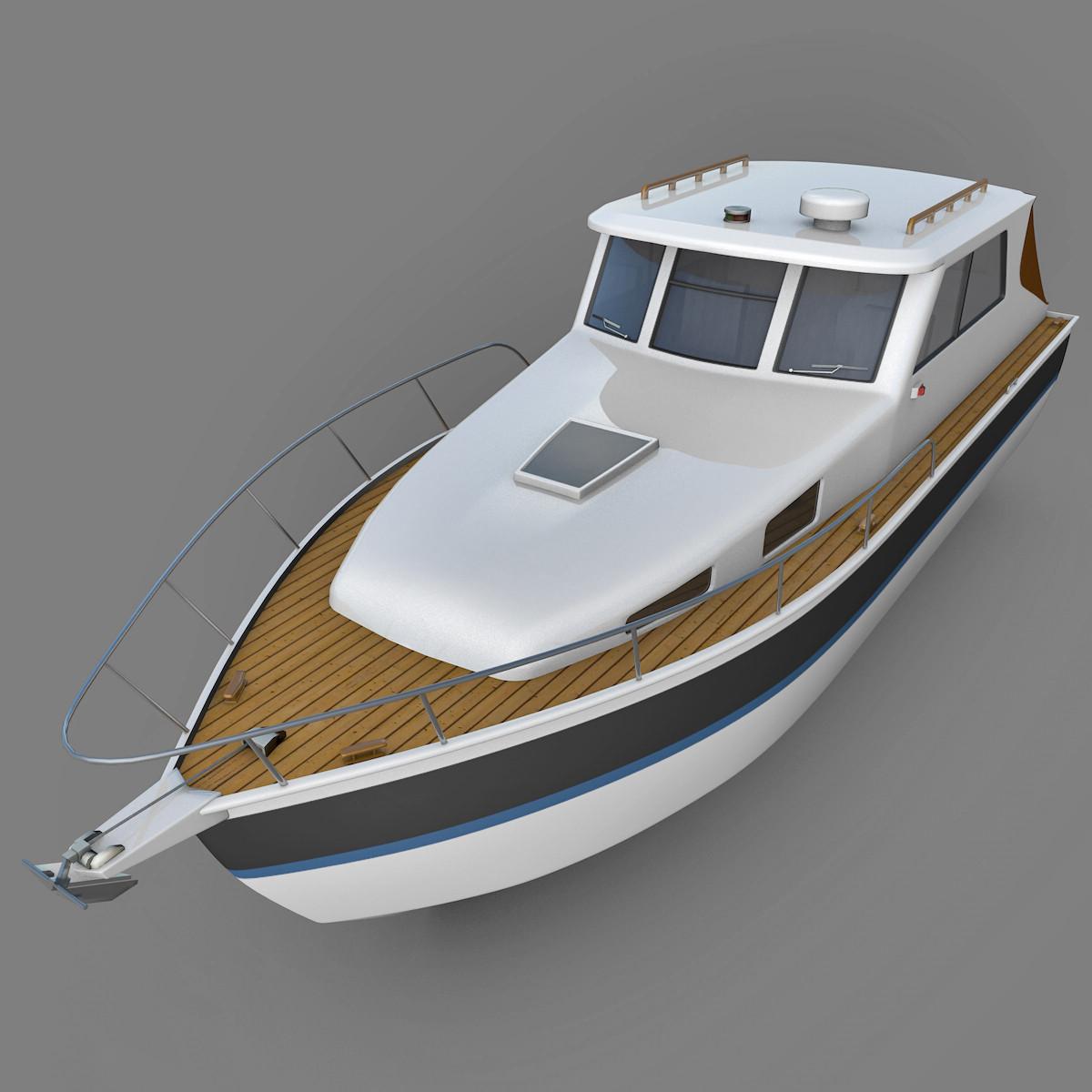 3d boat motorboat model