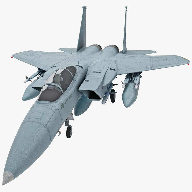 mcdonnell douglas f-15a eagle 3d max