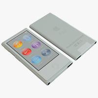 3d model gray ipod nano