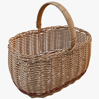 3d model wicker basket 3