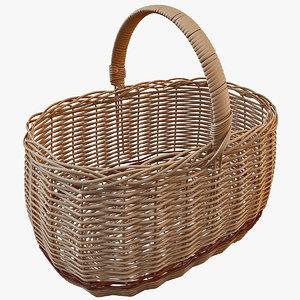 3d model wicker basket 3