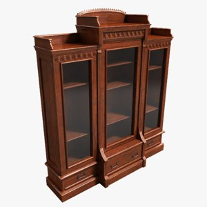 3dsmax enclosed bookcase