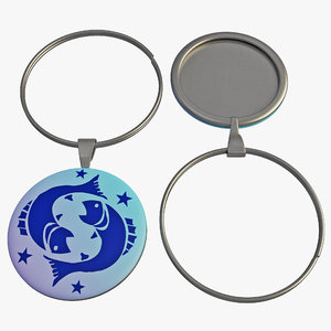 3d model wine glass pendant