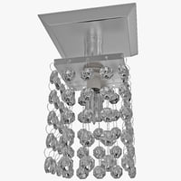 3d model crystal pendant chandelier