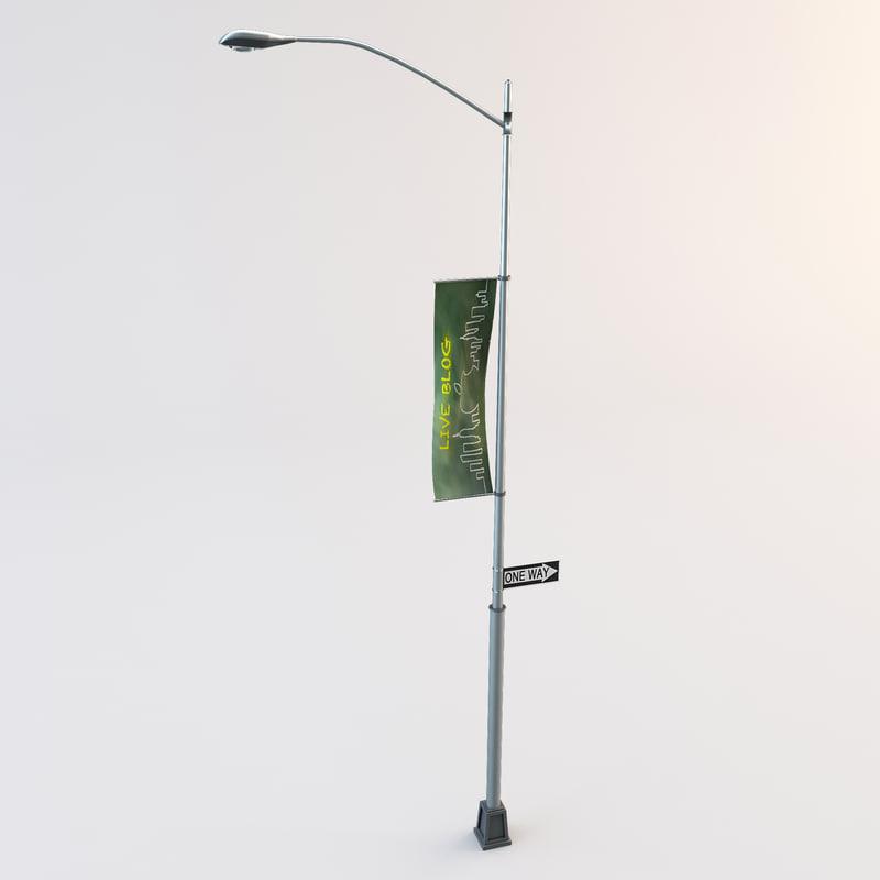 3dsmax city street lamp