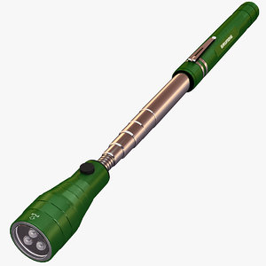 3d extendable flashlight lights model