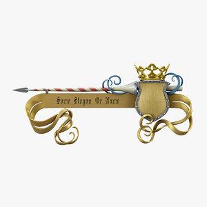 3d spear crown pointer