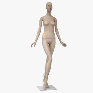 3d model bonaveri wood mannequin