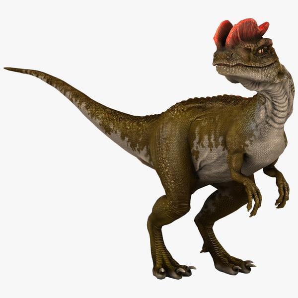 dilophosaurus dinosaur modelled 3d model
