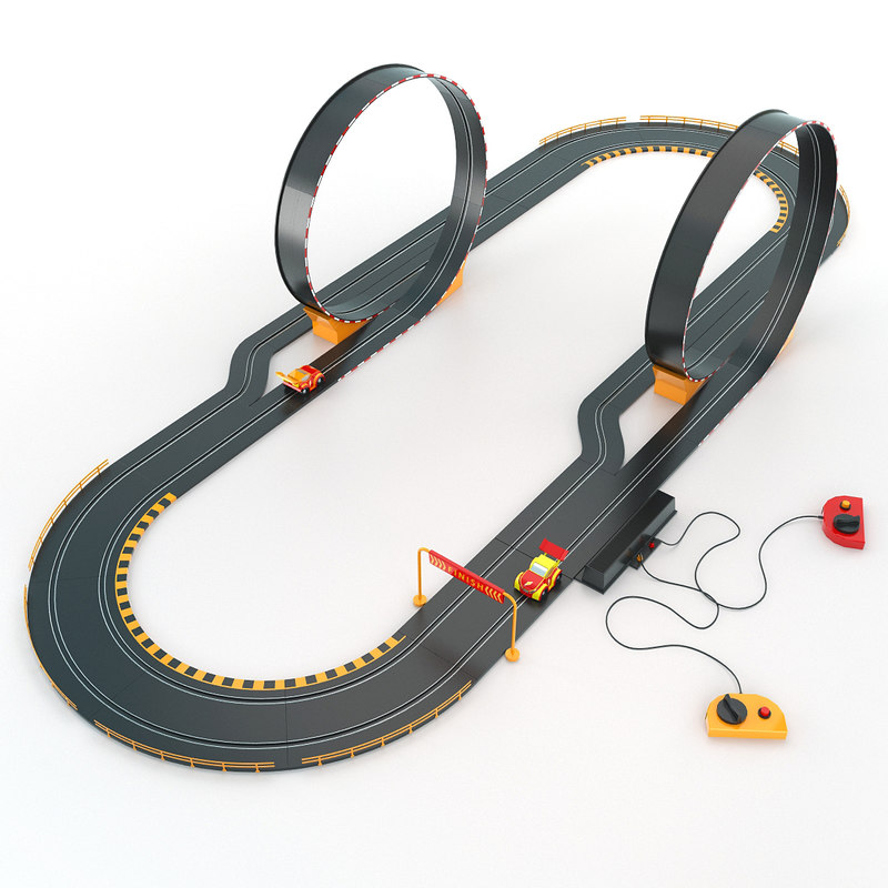 Plastic Race Car Track
