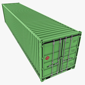 3ds max 40 feet container