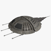 horseshoe crab space fighter 3d model