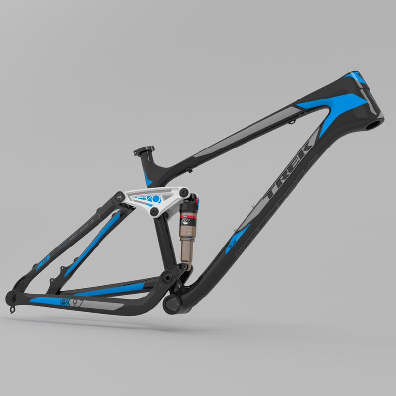 3d model mountain bike frame