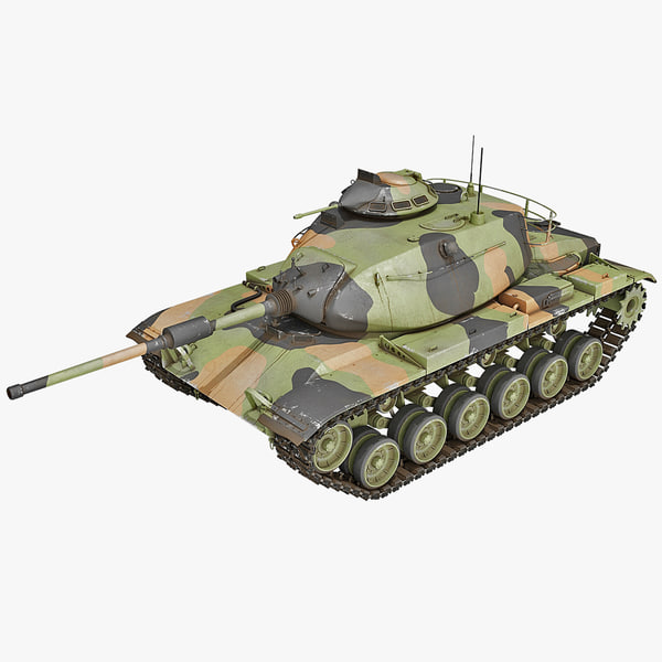 3d model m60 patton combat tank