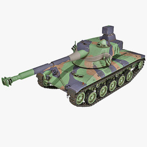3d model austrian sk-105 light tank