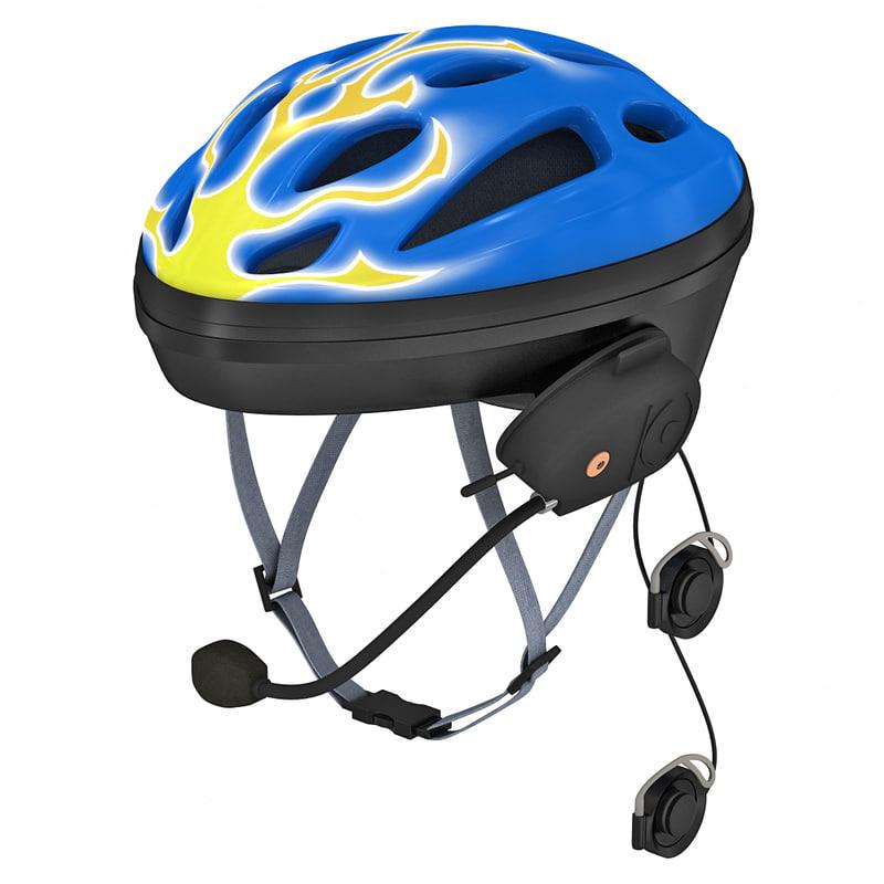 3d bluetooth bicycle helmet model