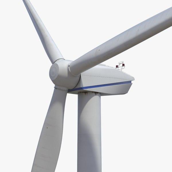 photorealistic wind turbine 3d model