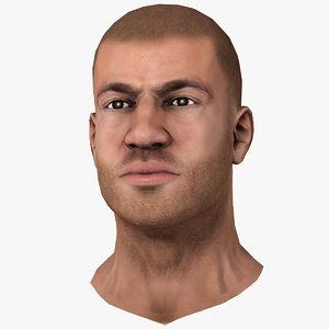 human head 3d obj