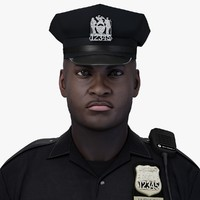 3d police officer character rigging