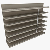 3d supermarket shelf model