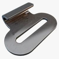 3d flat hook model