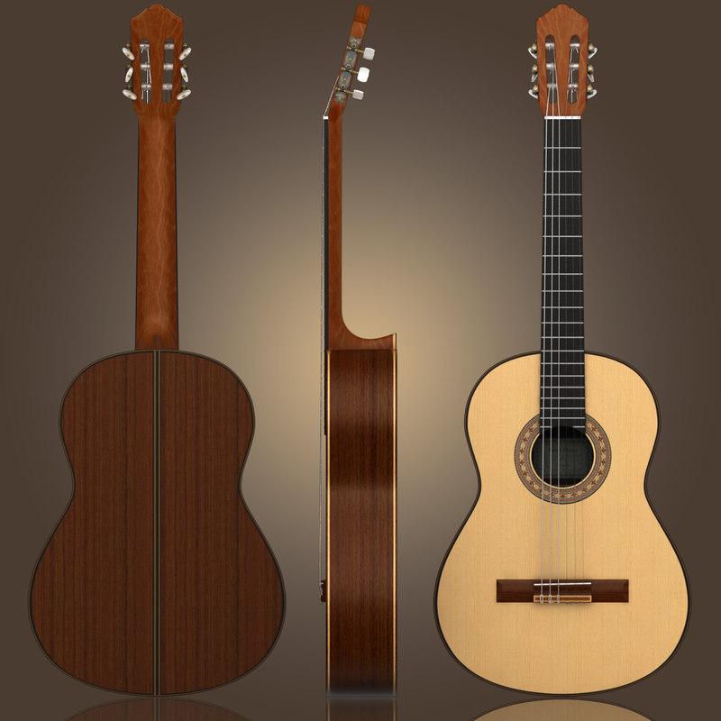 3d classical guitar