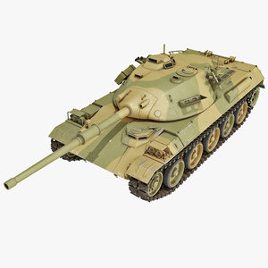 3d model japanese type 74 battle tank