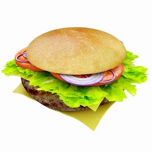 3dsmax hamburger burger bur