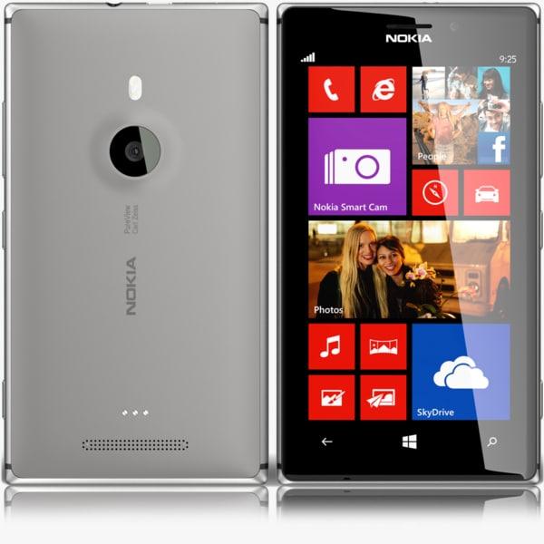 nokia lumia 925 grey 3d max