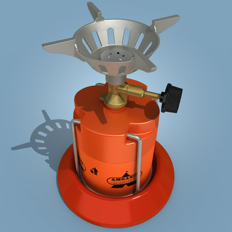 3d camping stove model